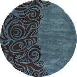 Momeni New Wave NW-88 Turquoise Hand Tufted Area Rug