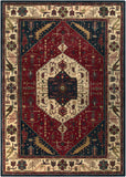 Surya Ancient Treasures A-134 Burgundy Area Rug 8' X 11'