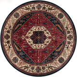 Surya Ancient Treasures A-134 Burgundy Area Rug 8' Round
