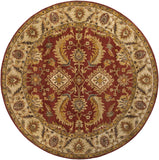 Surya Ancient Treasures A-147 Burgundy Area Rug 8' Round