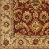 Surya Ancient Treasures A-147 Burgundy Area Rug Sample Swatch