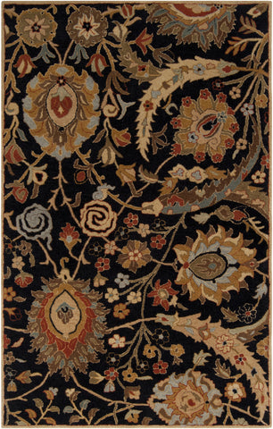 Surya Ancient Treasures A-154 Charcoal Hand Tufted Area Rug