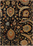 Surya Ancient Treasures A-154 Charcoal Area Rug 8' x 11'