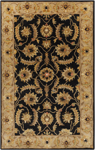 Surya Ancient Treasures A-171 Black Hand Tufted Area Rug