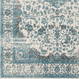 Surya Aberdine ABE-8005 Aqua Machine Woven Area Rug Sample Swatch