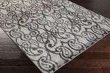 Surya Aberdine ABE-8008 Medium Gray Area Rug Corner Shot