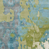 Surya Aberdine ABE-8015 Aqua Machine Woven Area Rug Sample Swatch