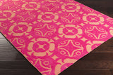 Surya Abigail ABI-9071 Hot Pink Machine Loomed Area Rug 5x8 Corner