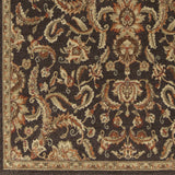 Surya Arabesque ABS-3008 Black Machine Loomed Area Rug Sample Swatch