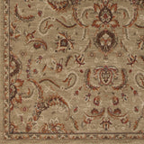 Surya Arabesque ABS-3009 Olive Machine Loomed Area Rug Sample Swatch