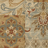 Surya Arabesque ABS-3012 Moss Machine Loomed Area Rug Sample Swatch