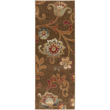 Surya Arabesque ABS-3016 Chocolate Area Rug 2'7'' x 7'3'' Runner
