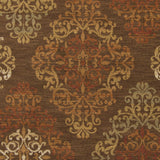 Surya Arabesque ABS-3019 Chocolate Machine Loomed Area Rug Sample Swatch
