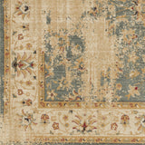 Surya Arabesque ABS-3035 Charcoal Machine Loomed Area Rug Sample Swatch