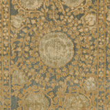 Surya Arabesque ABS-3060 Charcoal Machine Loomed Area Rug Sample Swatch