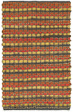 LR Resources Accent 03909 Tangerine Hand Woven Area Rug 2' 6'' X 4'