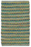 LR Resources Accent 03909 Turquoise Hand Woven Area Rug 2' 6'' X 4'