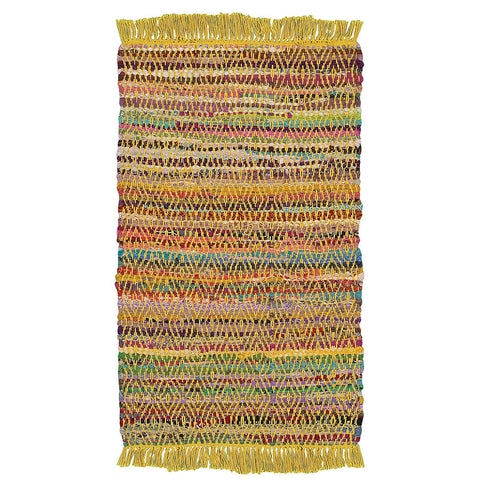 LR Resources Accent 04042 Yellow Area Rug