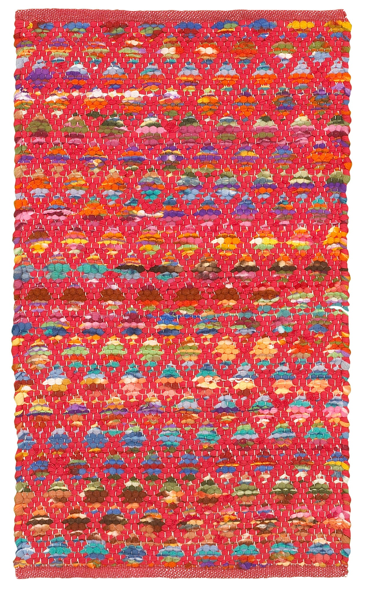 LR Resources Accent 05010 Red Area Rug