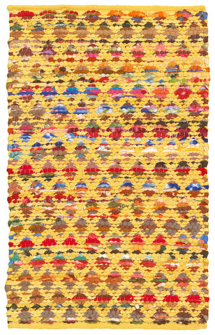 LR Resources Accent 05011 Yellow Area Rug