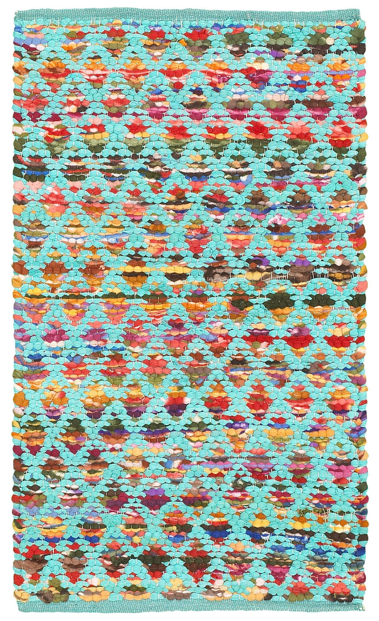LR Resources Accent 05013 Turquoise Area Rug