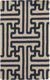 Surya Archive ACH-1700 Navy Area Rug by Smithsonian 2' x 3'