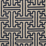 Surya Archive ACH-1700 Navy Hand Woven Area Rug by Smithsonian Sample Swatch