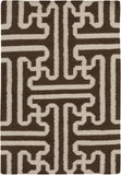 Surya Archive ACH-1710 Chocolate Area Rug by Smithsonian 2' X 3'