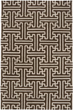 Surya Archive ACH-1710 Chocolate Area Rug by Smithsonian 5' x 8'