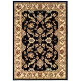 LR Resources Adana 80371 Black/Cream Machine Loomed Area Rug 5'1'' X 7'5''