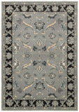 LR Resources Adana 80371 Gray/Black Machine Loomed Area Rug 1'10'' X 3'1''