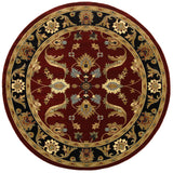 LR Resources Adana 80371 Red/Black Machine Loomed Area Rug 9'1'' X 9' 1'' round