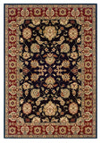 LR Resources Adana 80716 Black/Red Machine Loomed Area Rug 5'1'' X 7'5''