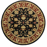 LR Resources Adana 80716 Black/Red Area Rug
