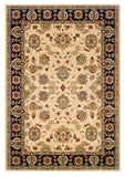 LR Resources Adana 80716 Cream/Black Machine Loomed Area Rug 5'3'' X 7'5''