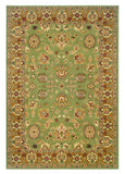LR Resources Adana 80716 Green/Gold Machine Loomed Area Rug 7'9'' X 9'9''