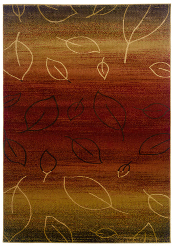 LR Resources Adana 80904 Cherry/ Light Brown Area Rug