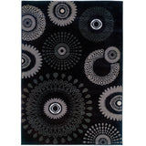 LR Resources Adana 80912 Charcoal Machine Loomed Area Rug 9'2'' X 12'6''