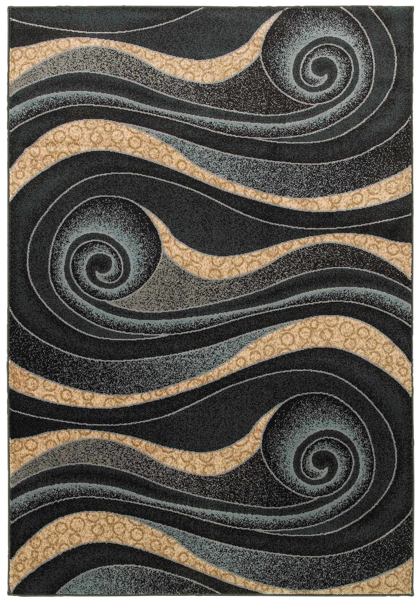 LR Resources Adana 80978 Black Area Rug