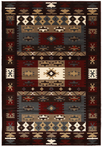LR Resources Adana 80979 Burgundy Area Rug