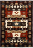LR Resources Adana 80980 Burgundy Machine Loomed Area Rug 5'3'' X 7'5''