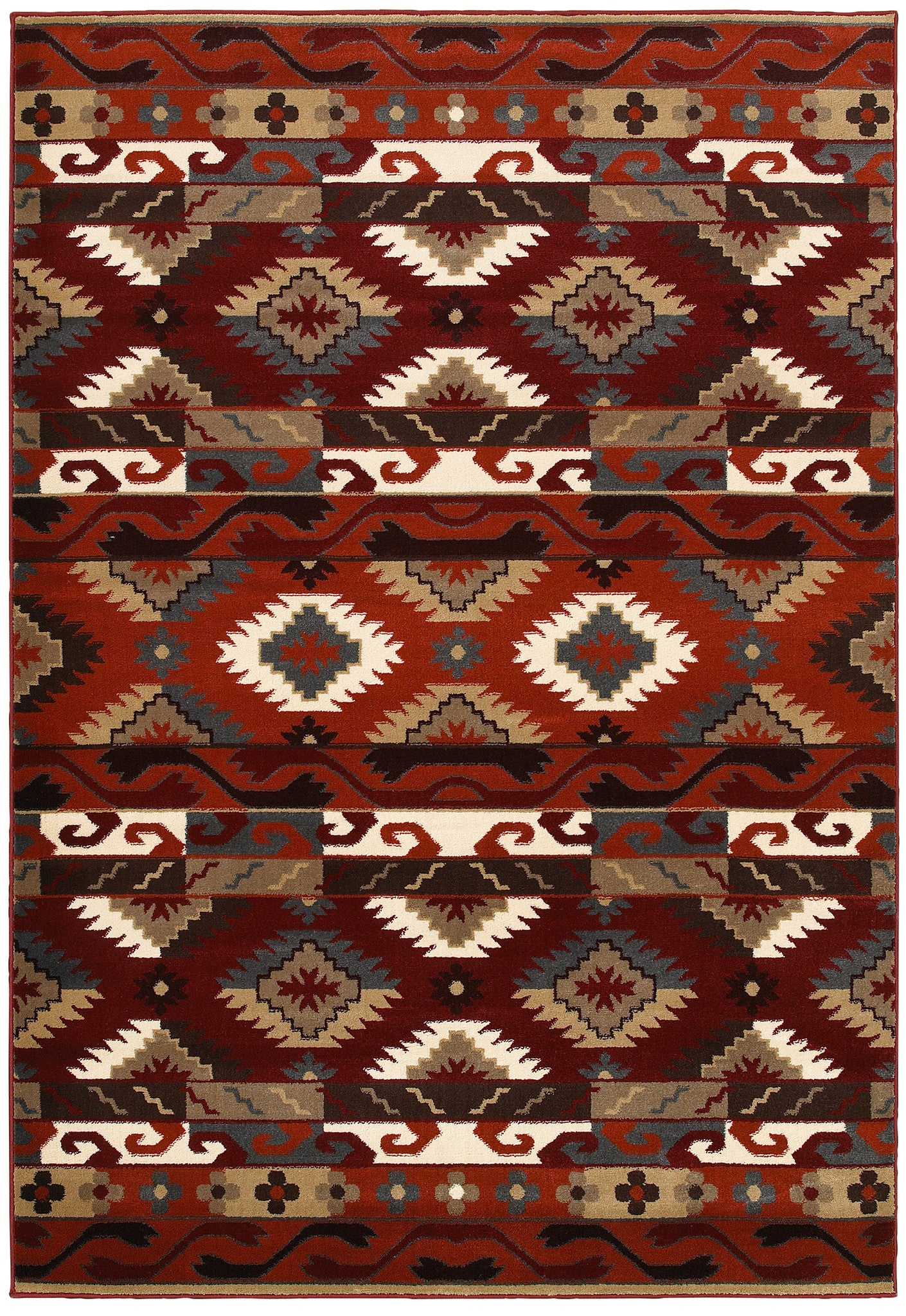 LR Resources Adana 80981 Terracotta Area Rug