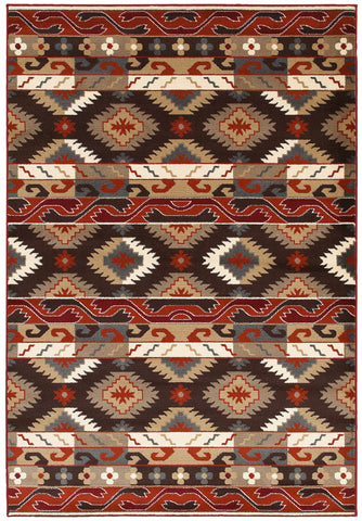 LR Resources Adana 80982 Brown Area Rug
