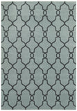 LR Resources Adana 80987 Light Blue Machine Loomed Area Rug 5'3'' X 7'5''