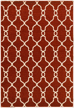 LR Resources Adana 80984 Terracotta Area Rug