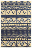 Linon Aspire Collection RUGAE01 Ivory/Blue Area Rug main image