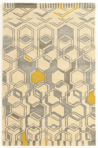 Linon Aspire Collection RUGAE09 Ivory/Grey Area Rug main image