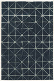 Linon Aspire Collection RUGAE15 Navy/Ivory Area Rug main image