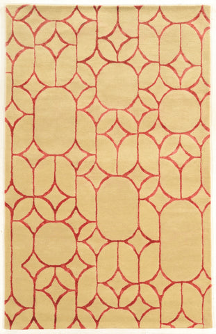 Linon Aspire Collection RUGAE16 Ivory/Coral Area Rug main image
