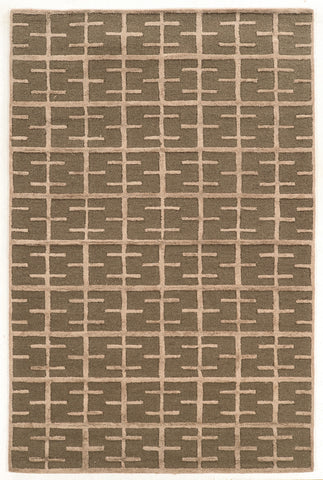 Linon Aspire Collection RUGAE18 Taupe/Taupe Area Rug main image